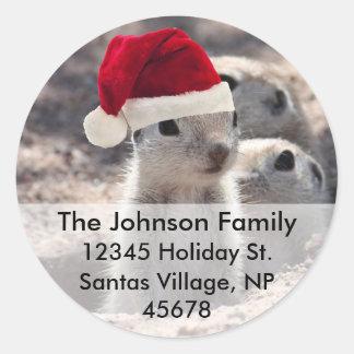Santa Squirrel Address Labels