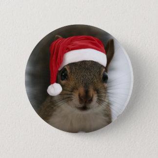 Santa Squirrel Button
