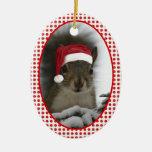 Santa Squirrel DATED Christmas Tree Ornaments