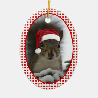 Santa Squirrel DATED Christmas Tree Ornaments