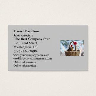 Santa Squirrel in Snow Business Card