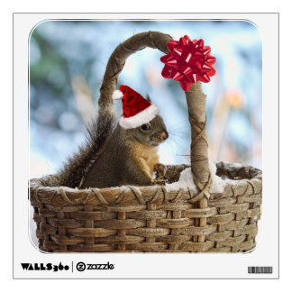 Santa Squirrel in Snow Wall Sticker