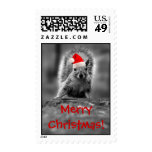 Santa Squirrel Merry Christmas Postage