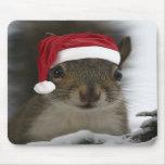 Santa Squirrel Mouse Mat