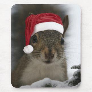 Santa Squirrel Mouse Pad
