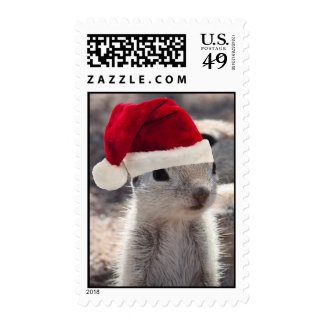 Santa Squirrel Postage