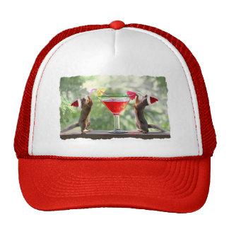 Santa Squirrels Drinking a Cocktail Trucker Hat