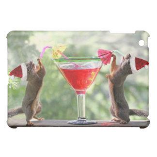 Santa Squirrels Drinking a Cocktail iPad Mini Covers