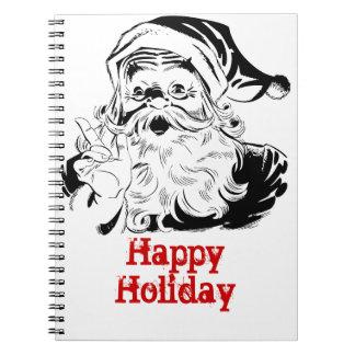 Santa St. Nick Holiday Winter Happy Destiny Season Notebook