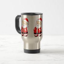 Santa  Stainless Steel 15 oz  Mug
