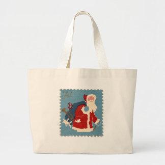 Santa Stamp Large Tote Bag