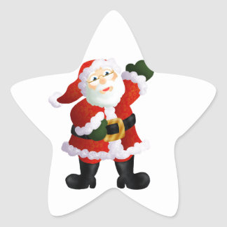 Santa Star Sticker