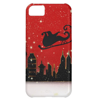 Santa & Starry Night Destiny Holidays iPhone 5C Cover
