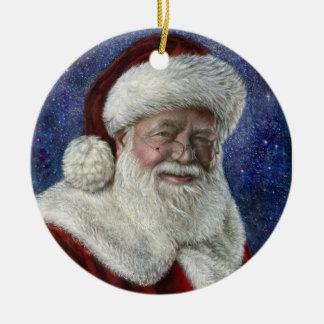 Santa Starry Night Ornament