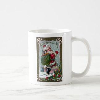 Santa Stepping Into Chimney Coffee Mug