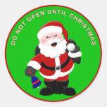Santa Sticker 2 - Do Not Open Until Christmas