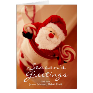 Santa Stocking Card