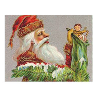 Santa Stocking Postcard