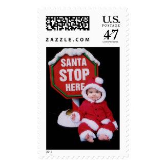 Santa, Stop Here! Postage
