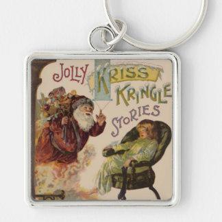 Santa Stories Kris Kringle Vintage Art Print Keychain