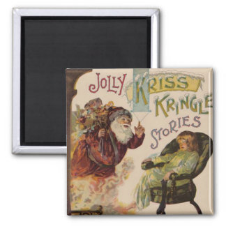 Santa Stories Kris Kringle Vintage Art Print Magnet
