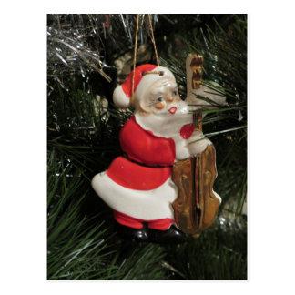 Santa Strumming His Instrument Postcard