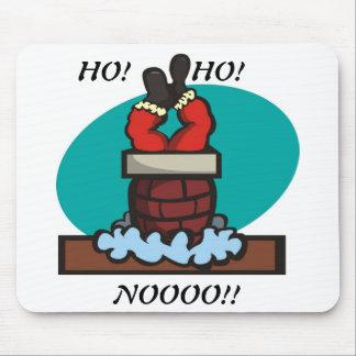 Santa stuck in chimney mouse pad