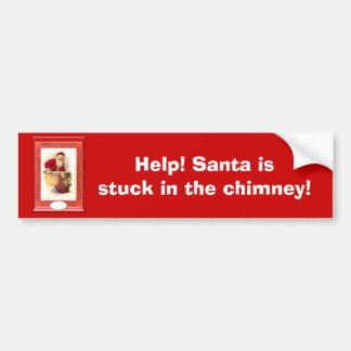 Santa stuck in the chimney bumper sticker