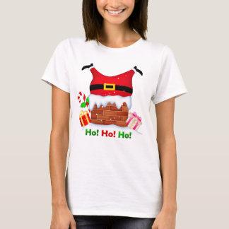 Santa stuck Women's Basic T-Shirt