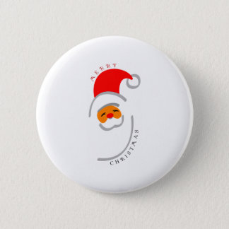 Santa Style Pinback Button