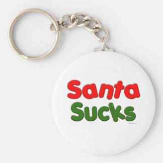 Santa Sucks Basic Round Button Keychain