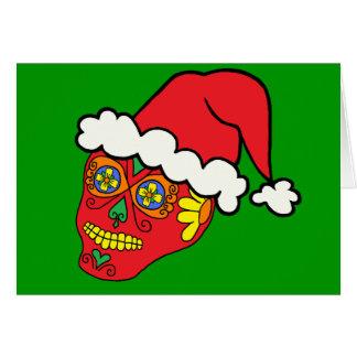 Santa Sugar Skull Card