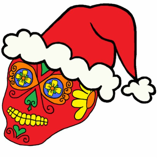 Santa Sugar Skull Cut Out
