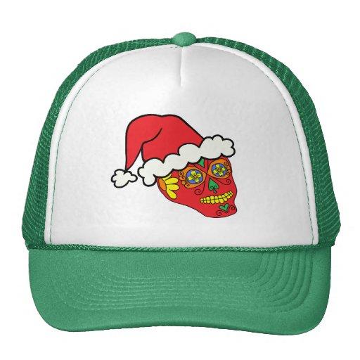 Santa Sugar Skull Hats