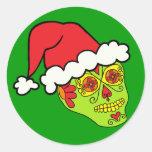 Santa Sugar Skull Sticker