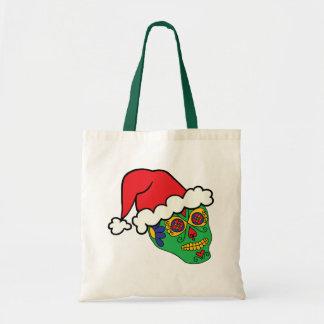 Santa Sugar Skull Tote Bag