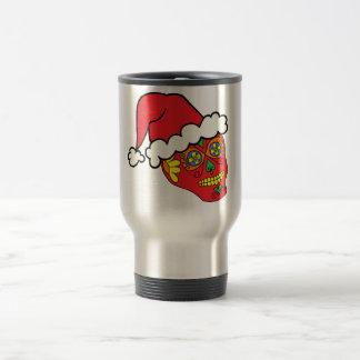 Santa Sugar Skull Travel Mug