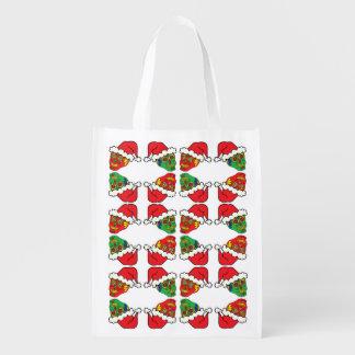 Santa Sugar Skulls Grocery Bag
