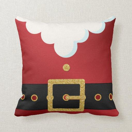 Santa Suit Belly Christmas Pillow