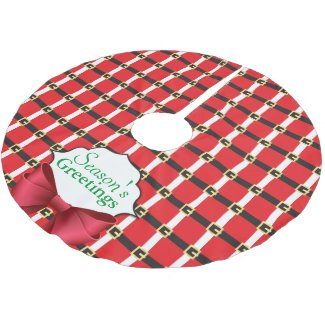 Santa Suit Brushed Polyester Tree Skirt