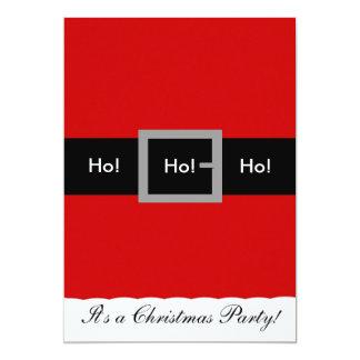 Santa Suit Christmas Invitation, Ho!, Ho!, Ho! 5x7 Paper Invitation Card