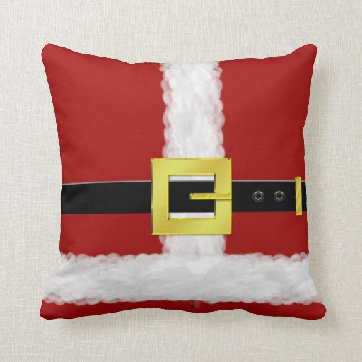 Santa Suit Christmas Pillow