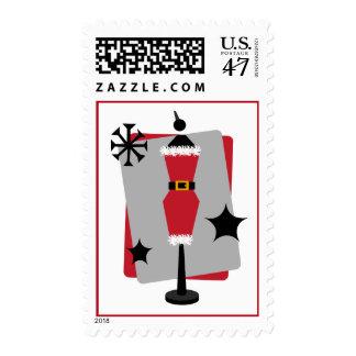 Santa Suit Dress Form Mannequin Christmas Postage