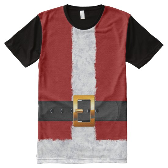Santa Suit festive fashion for all This Holiday All-Over-Print T-Shirt