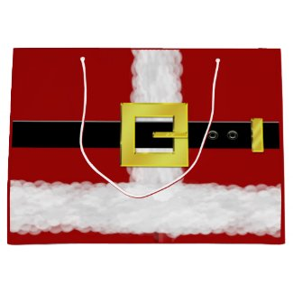 Santa Suit Gift Bag - Large, Glossy Large Gift Bag