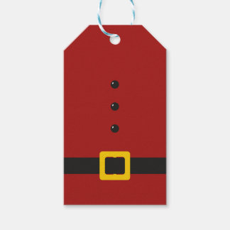 Santa Suit Merry Christmas Gift Tags