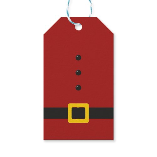 Santa Suit Merry Christmas Gift Tags Pack Of Gift Tags