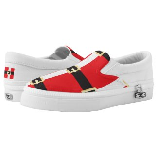 Santa Suit Printed Shoes