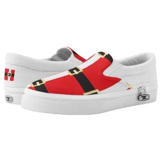 Santa Suit Printed Shoes