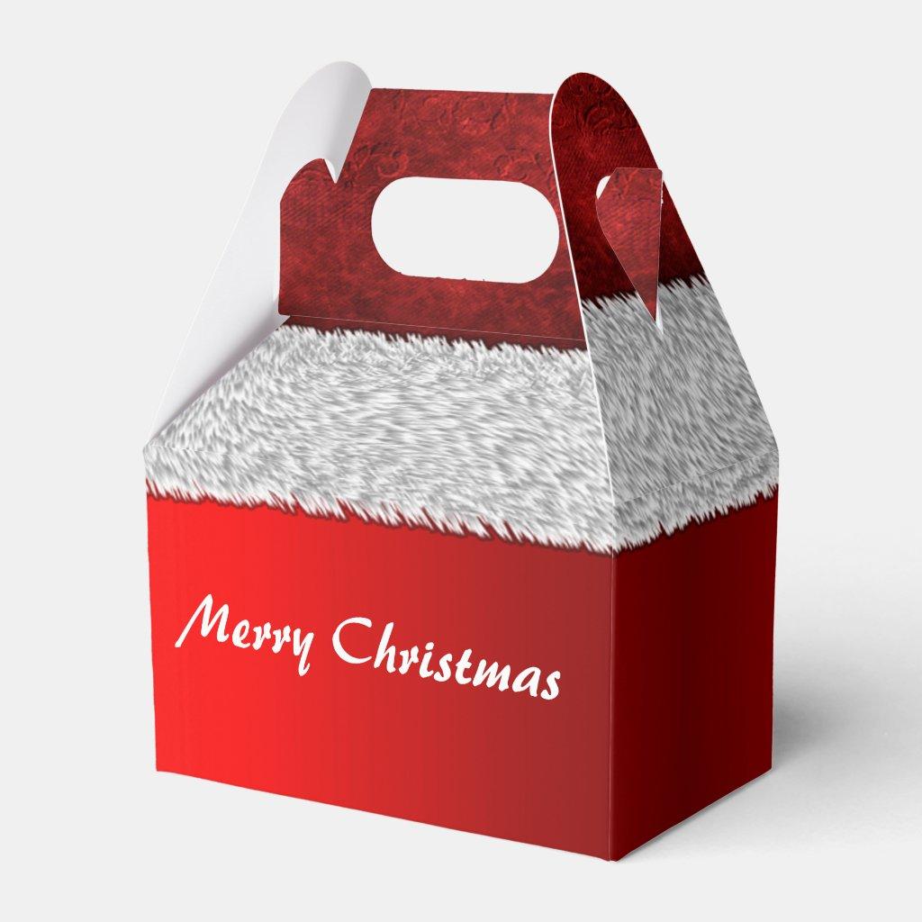 Santa Suit Red Christmas Favor Box